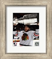 Patrick Kane with the Stanley Cup Game 6 of the 2013 Stanley Cup Finals Fine-Art Print