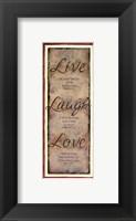 Live Laugh Love Fine-Art Print