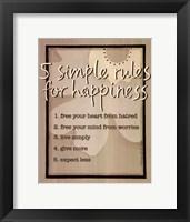 Five Simple Rules Fine-Art Print