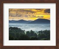 Asheville NC Blue Ridge Mountains Sunset and Fog Landscape Fine-Art Print