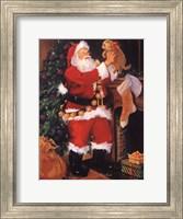 Santa With Puppy Fine-Art Print