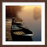 Misty Boats Fine-Art Print