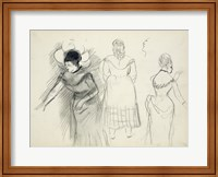 Sketches of Cafe Singers Fine-Art Print