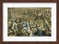 The Arno with Fishermen Fine-Art Print