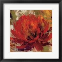 Fiery Dahlias II Crop Fine-Art Print