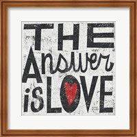 The Answer is Love Grunge Square Fine-Art Print