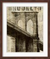Vintage NY Brooklyn Bridge Fine-Art Print