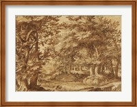 Forest Landscape with a Distant Castle Fine-Art Print