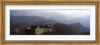 High angle view of a fortified wall passing through a mountain range, Great Wall Of China, Beijing, China Fine-Art Print