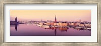 Reflection of buildings in a lake, Lake Malaren, Riddarholmen, Gamla Stan, Stockholm, Sweden Fine-Art Print