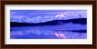 Reflection of snow covered mountains on water, Mt McKinley, Wonder Lake, Denali National Park, Alaska, USA Fine-Art Print