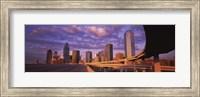Dallas Skyscrapers ( Purple Sky) Fine-Art Print
