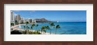 Buildings On The Beach, Waikiki Beach, Honolulu, Oahu, Hawaii, USA Fine-Art Print