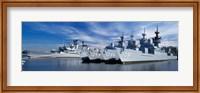 Warships at a naval base, Philadelphia, Philadelphia County, Pennsylvania, USA Fine-Art Print