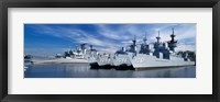 Warships at a naval base, Philadelphia, Philadelphia County, Pennsylvania, USA Fine-Art Print