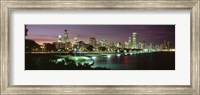 Chicago Lit Up at Night Fine-Art Print