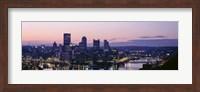 USA, Pennsylvania, Pittsburgh, Monongahela River Fine-Art Print