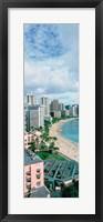 High angle view of a beach, Waikiki Beach, Honolulu, Oahu, Hawaii, USA Fine-Art Print