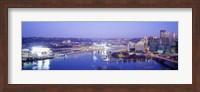 Pittsburgh skyscrapers and Heinz Stadium at night Fine-Art Print