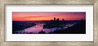 Pittsburgh against a Red Sky Fine-Art Print
