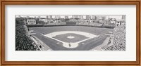 Wrigley Field in black and white, USA, Illinois, Chicago Fine-Art Print