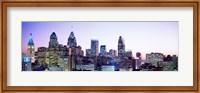 Philadelphia Lit Up At dusk Fine-Art Print