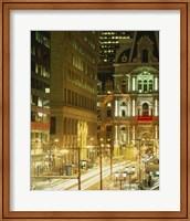 Building lit up at night, City Hall, Philadelphia, Pennsylvania, USA Fine-Art Print