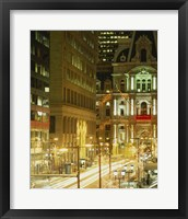 Building lit up at night, City Hall, Philadelphia, Pennsylvania, USA Fine-Art Print