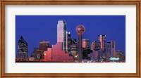 USA, Texas, Dallas, Panoramic view of an urban skyline at night Fine-Art Print