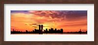 US, New York City, skyline, sunrise Fine-Art Print