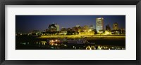 Buildings Lit Up At Dusk, Memphis, Tennessee, USA Fine-Art Print