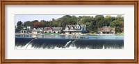 Boathouse Row at the waterfront, Schuylkill River, Philadelphia, Pennsylvania Fine-Art Print