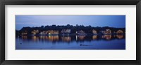 Boathouse Row lit up at dusk, Philadelphia, Pennsylvania Fine-Art Print