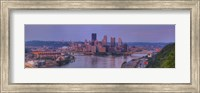 City viewed from the West End at Sunset, Pittsburgh, Allegheny County, Pennsylvania, USA 2009 Fine-Art Print