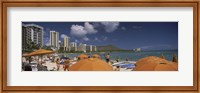Tourists on the beach, Waikiki Beach, Honolulu, Oahu, Hawaii, USA 2010 Fine-Art Print