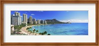 Diamond Head, Waikiki Beach, Oahu, Honolulu, Hawaii Fine-Art Print