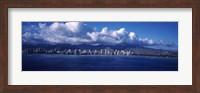 City at the waterfront, Waikiki, Honolulu, Oahu, Hawaii, USA Fine-Art Print