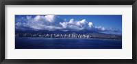 City at the waterfront, Waikiki, Honolulu, Oahu, Hawaii, USA Fine-Art Print