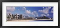 Waikiki Beach with mountain in the background, Diamond Head, Honolulu, Oahu, Hawaii, USA Fine-Art Print