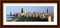 Skyline with Hancock Building and Sears Tower, Chicago, Illinois Fine-Art Print