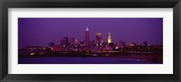 Cleveland, Ohio Lit Up at Night Fine-Art Print