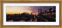 Bridge over a river, Benjamin Franklin Bridge, Philadelphia, Pennsylvania, USA Fine-Art Print