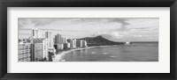 Diamond Head, Waikiki, Oahu, Honolulu, Hawaii (black & white) Fine-Art Print