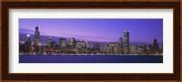 Chicago Skyline with Purple Sky Fine-Art Print