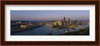 High angle view of a city, Three Rivers Stadium, Pittsburgh, Pennsylvania, USA Fine-Art Print