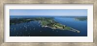 Aerial view of a fortress, Fort Adams, Newport, Rhode Island, USA Fine-Art Print