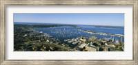 Aerial view of a harbor, Newport Harbor, Newport, Rhode Island, USA Fine-Art Print