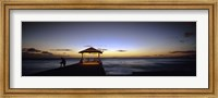 Tourists on a pier, Waikiki Beach, Waikiki, Honolulu, Oahu, Hawaii, USA Fine-Art Print