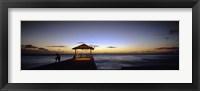Tourists on a pier, Waikiki Beach, Waikiki, Honolulu, Oahu, Hawaii, USA Fine-Art Print