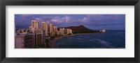 High Angle View Of Buildings On The Beach, Waikiki Beach, Oahu, Honolulu, Hawaii, USA Fine-Art Print